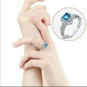 Jewelry - Love Heart Blue Topaz Ring